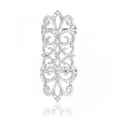 Gabriel & Co. - 18Kt White Gold Double Shank Diamond Ring. $5,926.