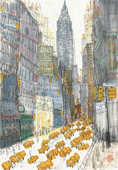 1000drawings:  New York by Clare Caulfiel