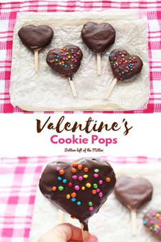Valentines Cookie Pops are the perfect treat to celebrate the holiday!  #valentinesday #dessert #cookiepops