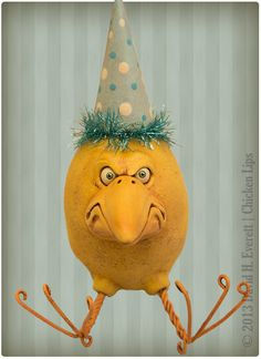 Grumpy Chick, by David H. Everett | Chicken Lips $45.00, via Etsy.