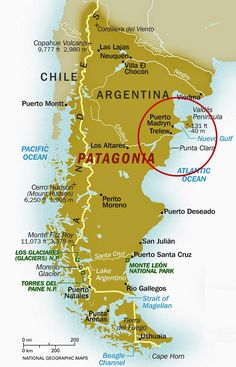 Map of Patagonia in Chile and Argentina.Map of Patagonia in Chile and Argentina. Patagonia Travel, In Patagonia, Backpacking South America, South America Travel, North America, Amazing Destinations, Travel Destinations, Torres Del Paine National Park, Travel Tips