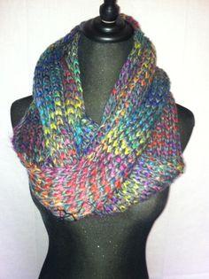 Knit infinity scarf.  So cozy.  $22