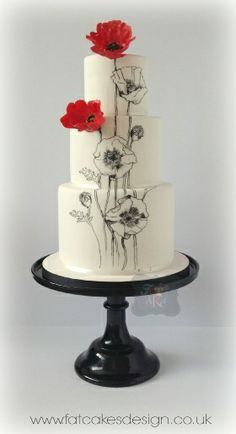 """Wedding cakes---just gorgeous! (With a faint """"Wizard of Oz"""" feeling about it...)"""
