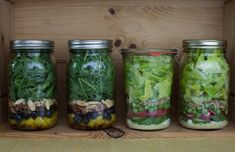A Week of Make Ahead Spring Salads in Jars | SimpleBites.net #salads #easymeals