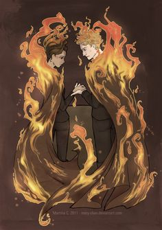 Tributes on fire