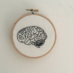 Brain human brain hand embroidery by ElenaColetteCo on Etsy