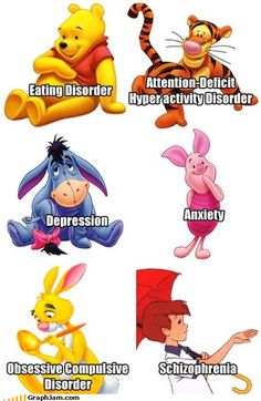 Winnie the Pooh characters analyzed by today's experts