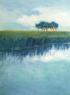 """Sunmmer Blues"" original fine art by Jo-Ann Sanborn"