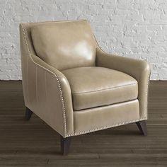 Barrett Leather Chair by Bassett Furniture