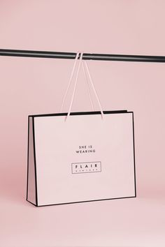 FLAIR by Adriana Jackson, via Behance Clothing Packaging, Fashion Packaging, Luxury Packaging, Bag Packaging, Print Packaging, Fashion Branding, Jewelry Packaging, Shoping Bag, Shopping Bag Design