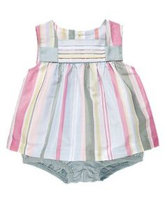 Not at all infant friendly -- silk dupioni? -- but adorable all the same. and now on sale. Can I resist?