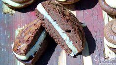 Печенье брауни с кремом Очень вкусное печенье с нежным кремом из маскарпоне и арахисовой пасты! #едимдома #готовимдома #рецепты #кулинария #выпечка #печенье