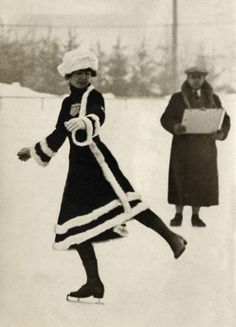 Skater during Winter Olympics, Chamonix , France 1924