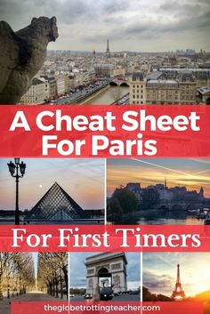 A Cheat Sheet for Paris First Timers - Planning a trip to Paris? Use this guide to make your Paris itinerary with the best Paris things to do and Paris travel tips to make your first trip to Paris a success! Paris France Travel, Paris Travel Guide, Europe Travel Tips, New Travel, European Travel, Travel Destinations, Travel Info, Travel Hacks, Travel Ideas