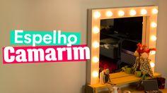 Ebaaaa!! O espelho de Camarim chegou!!! Feito de madeira, ele é todo charmosinho e iluminado ♥ Aprenda a fazer a penteadeira aqui: https://youtu.be/8KaPbtQyb...