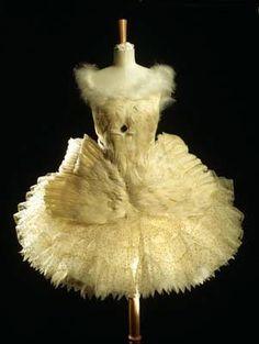 Anna Pavlova's swan tutu by Bakst