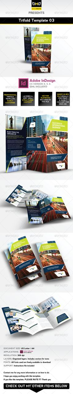 Trifold Brochure Template 03 - InDesign Layout
