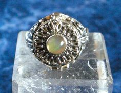 Sz 8, Genuine FIRE OPAL, 925 Solid Sterling Silver, Poison Ring Jewellery. by…