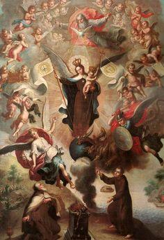 San Miguel Arcángel y la Apoteosis de la Virgen del Carmen.