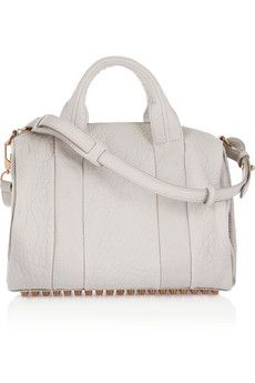 Alexander WangThe Rocco textured-leather bag   white and rose gold