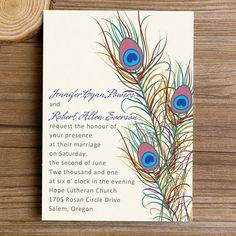 20 Best Peacock Wedding Invitations Images Peacock Wedding