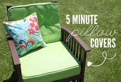 5 Minute Pillow Cover Tutorial