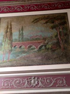 You are looking at the plaster frescoes. They have been restored and are stunning. March 4, 2015.