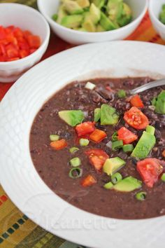 Pressure Cooker Black Bean Soup from @Jeanette | Jeanette's Healthy Living