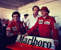 Prost, Dennis, Lauda. Portugal 1984