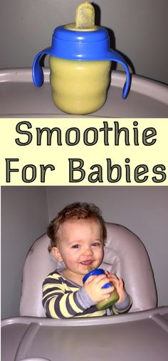 The perfect homemade baby smoothie. Rich in iron and protein.