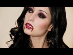 """Sexy Vampire Halloween Makeup Look. Another pinner said, """"I used this look for Halloween this year and it looked amazing! Got great comments! Scary Halloween Costumes, Halloween Makeup Looks, Halloween Make Up, Halloween Ideas, Halloween Party, Katy Perry, Blush Makeup, Vamp Makeup, Sleek Makeup"""