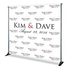 Bride & Groom Wedding Red Carpet Backdrop | Backdrops