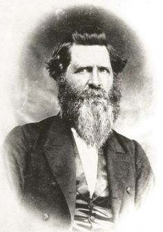 "Nicholas Porter Earp, father of the ""fightin' Earp boys,"" as he looked during the family's tumultuous residence in Pella, Iowa, in the mid-1860s."