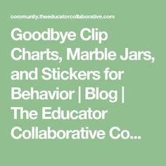 Goodbye Clip Charts,