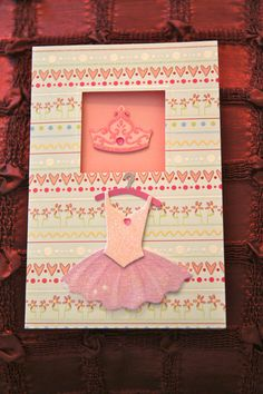 Dancing Recital card , two to choose from, both adorable on Etsy, $3.00