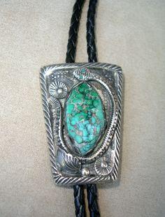 Navajo Snake Bolo Tie Gallery » Jewelry » Bolo Ties and Scarf Slides » Navajo Snake Bolo Tie  Asymmetrical ingot or sterling bolo tie, wi...