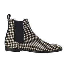 Abia Ponyskin Ankle Boots Anthony Mathews Herringbone printed ponyhair ankle  boots. Elastic band on the