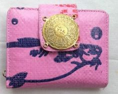 Eco-friendly Lady Purse With Brass Bomb Shell Pieces, ethically handmade by disadvantaged home Based Workers.
