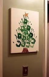 handprint Christmas tree! so adorable!