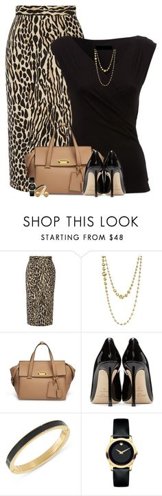 """Leopard Print for the office"" by houston555-396 ❤ liked on Polyvore featuring By Malene Birger, Marco Bicego, Henri Bendel, Jimmy Choo, Kate Spade and Movado"