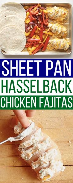 These Sheet Pan Chicken Fajitas Are Game-Changing These Sheet. - nutritionplans - These Sheet Pan Chicken Fajitas Are Game-Changing These Sheet Pan Chicken Fajita - Hasselback Chicken, Smoothies, Sandwiches, Yummy Food, Tasty, Just Cooking, Cooking Light, Chicken Fajitas, Saveur