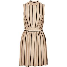 **High Neck Stripe Dress by Love