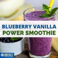 No cooking required, and it's ready in a minute. Why not whip up a tasty, nutritious, antioxidant-rich blender beverage like this Blueberry Power Smoothie?