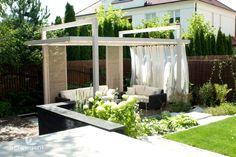 23 Modern Gazebo And Pergola Design Ideas You'll Love - Shelterness White Gazebo, Hot Tub Gazebo, Gazebo Pergola, Pergola Garden, Pergola Shade, Pergola Cover, Cheap Pergola, Pergola Designs, Patio Design
