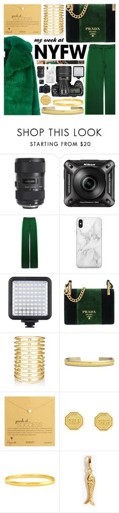 """Leaving NYFW"" by pastelneon ❤ liked on Polyvore featuring Nikon, MSGM, Eos, Sigma, Valentino, Recover, Prada, Jules Smith, Sergio Lub and Dogeared"