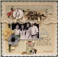 MY FAMILY *** MY CREATIVE SCRAPBOOK*** - Scrapbook.com      (created by Brooke Outten) onto Scrapbook Art.