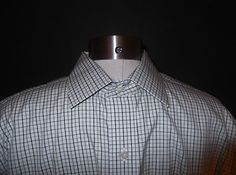 NWOT Brooks Brothers Checked Non Iron Cotton Dress Shirt Sz 16-34 Sharp!  $34.95