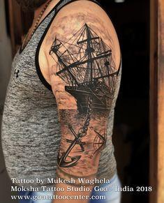 Travelling Tattoo Done by Mukesh Waghela at Moksha Tattoo Studio Goa.