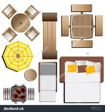 outdoor furniture top view set 15 for landscape design vector illustration - Garden Furniture Top View Psd