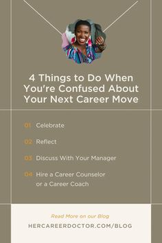 Being in a career that no longer aligns with who you are can quickly become frustrating. But sometimes, confusion about what to do next can keep you stuck. In this blog post, I share 4 things to do when you're confused about your next career move. Why Am I Unhappy, Unhappy At Work, Career Search, Job Search, Current Job, Career Change, Career Development, Online Portfolio, Confusion